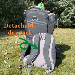 Osprey Poco Plus child carrier with detachable daypack removed