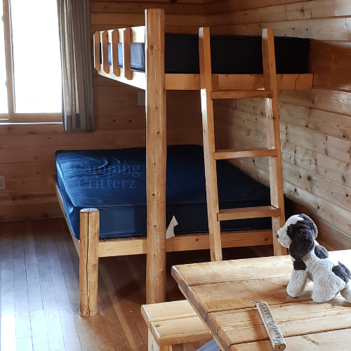 Camper Cabin, indoor camping, camping in cold weather